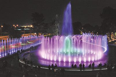 Цветомузыкальный фонтан